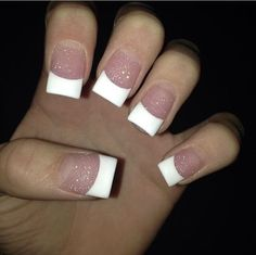 French manicure on square nails