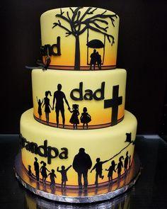 80th Birthday Cake Husband Dad Grandad Tiered Cake With