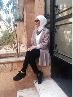 Hijab trends from the street - Egyptian hijab style- http://www.justtrendygirls.com/hijab-trends-from-the-street/