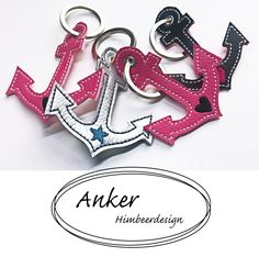 Anker Schlüsselanhänger ITH - Another! Anker Tattoo, Diy Sac, Sewing Projects, Personalized Items, Leather, Crafts, Bags, Hand Crafts, Keychains