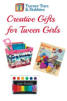 Looking for a great last minute gift for your tween girl?  Here are some great open-ended arts & crafts kits.