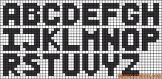 Alphabet perler bead pattern - Maybe I can make graphghan letters?