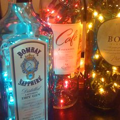 Lighted Bottles, effing cute idea!