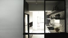 BLACK KITCHEN DOOR