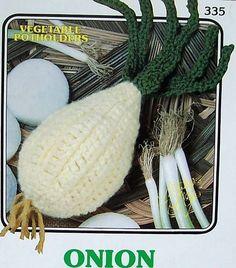 Crochet Vegetable Potholders  Onion   Annie's Attic #AnniesAttic
