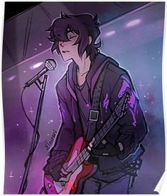 Keith as a rock and roll singer with his red guitar from Voltron Legendary Defender Voltron Klance, Voltron Fanart, Form Voltron, Voltron Ships, Voltron Comics, Keith Kogane, Fan Art, Art Reference Poses, Animes Wallpapers