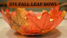 fall leaf bowl how fun