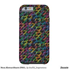 Neon AbstractHearts IPHONE 6 CASE