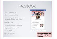 How to Sell Avon on Facebook - Crystal's Beauty Blog Eyeshadow Palette, Lip Gloss, Avon Crystal, Avon Brochure, Lip Tar, Facebook Party, Avon Online, People Online
