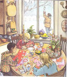 """""""A Child's Calendar"""" by John Updike, illustrated by Trina Schart Hyman, 2002 (http://www.themarlowebookshelf.blogspot.ca/2013/01/a-childs-calendar.html)"""