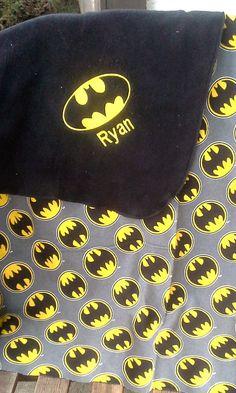 Batman Inspired Fleece Baby/Kids Blanket Personalized Name