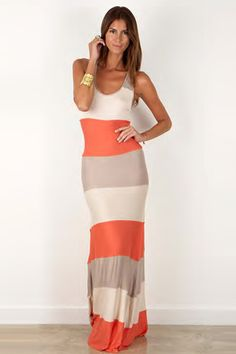 orange, taupe & cream