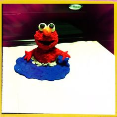 Elmo  made with Play-Doh
