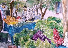 ORHAN GÜLER - Türkish Watercolor Artist Painter - Denizli Sarayköy Art Work Watercolor Artist, Watercolor Paintings, Art Work, Composition, Community, Drawings, People, Sketches, Watercolour Paintings