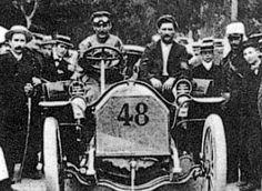 Berliet 40 CV, voiture routière de 1905 La Berliet 40 CV, photo d'époque, ce véhicule ancien fut fabriqué de 1905 à 1907.