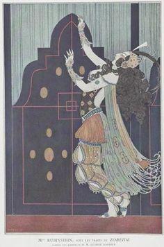 Ida Rubinstein_George Barbier_Scheherazade, 1910_01 (350x529, 42Kb)