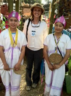 Me with Karen girls at the Small World Festival (Dec. 2013)