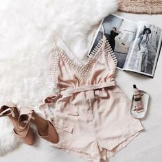 Romper: summer outfits date outfit pink pastel pink pastel pink heels