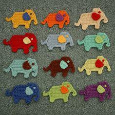 Artesanía Nana Sue: New Apliques Elephant Crochet