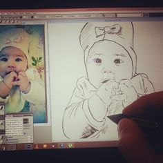 Work in progress #baby #Portrait #painting #Drawing #digitalPainting #Sketching #wacom #corelpainter #art #illustration #Dubai #happydubai #MyDubai #كلنا_رسامين #رسامين_العرب #رسامين