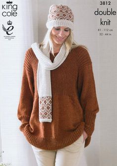 Smock, Cardigan, Hat and Scarf In King Cole DK (3812) – Deramores Ireland