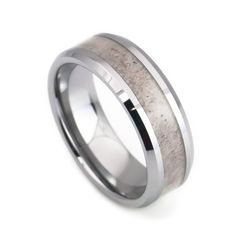 This Deer antler tungsten ring was handcrafted for stunning and unique. Surrounded by tungsten carbide and middle with genuine deer antler inlay. Please note, our deer antler tungsten wedding band is
