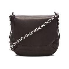 rag & bone Bradbury Mini Flap Chain Hobo Bag ($550) ❤ liked on Polyvore featuring bags, handbags, shoulder bags, hobo handbags, chain strap handbag, genuine leather handbags, hobo purse and leather shoulder handbags