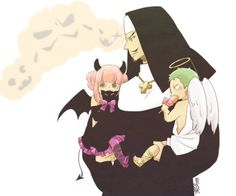 Happy Family - Little Zoro and Perona with Mihawk // Halloween
