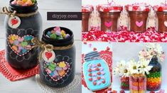 54 Mason Jar Valentine Gifts and Crafts | DIY Joy Projects and Crafts Ideas