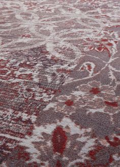 Detail Desso&Ex carpet collection - colour carmine.