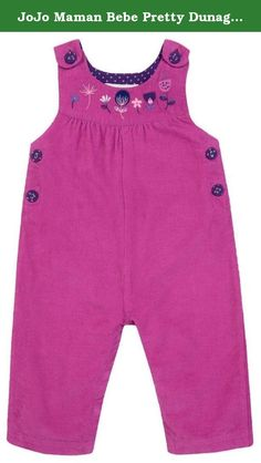 JoJo Maman Bebe Pretty Dunagrees (Baby) - Raspberry-0-3 Months. JoJo Maman Bebe Pretty Dunagrees (Baby) - Raspberry A pretty style for active toddlers. Features: Machine Washable Sweet dungarees in soft babycord lined with lovely bud embroidery to front bib. With button adjustable straps and popper leg openings for easy changing. Machine washable at 40 degrees.