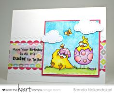Stamping as Fast as I Can!  From the Heart Stamps Easter Egg Birdbrain