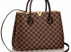 Louis Vuitton Kensington Damier Ebene 'V' Tote Bag Reference Guide | Spotted Fashion