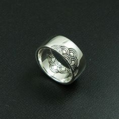JAPANESE HEAVEN CLOUD 925 STERLING SILVER US Size 12.5 BIKER ROCKER RING