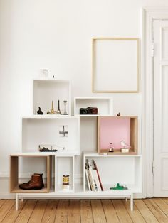 Buy Muuto Stacked Ash Shelf With Rose Backboard - Medium online with Houseology Price Promise. Full Muuto collection with UK & International shipping. Crate Shelves, Wall Shelves, Box Shelves, Storage Shelves, Display Shelves, Closet Shelving, Playroom Storage, Wall Bookshelves, Display Cabinets