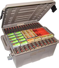 A great, lockable bulk ammo storage unit, all this Arsenal and Hornady ammo fits just right.