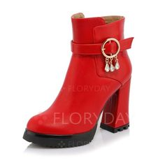 Shoes - $65.54 - Women's Boots Ankle Boots Chunky Heel Leatherette Shoes…