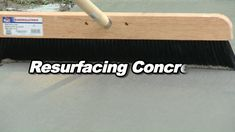How to resurface concrete with QUIKRETE Re-Cap Concrete Resurfacer - Flower Garden İdeas İn Front Of House Repair Concrete Driveway, Stained Concrete Driveway, Diy Concrete Patio, Acid Stained Concrete, Concrete Garages, Concrete Driveways, Concrete Slab, Concrete Design, Concrete Countertops