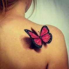 Imagini pentru 3D butterfly tattoo