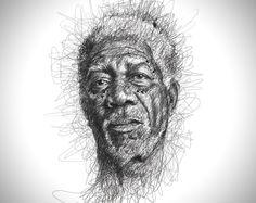 Faces Scribble Portraits by Vince Low 9 Les gribouillis incroyables de Vince Low