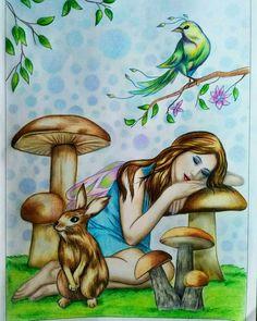 Colorist Ivana Bartakova. Book FAIRIES. Grayscale by Alena Lazareva. Available on Amazon and Etsy #alenalazareva #coloring #colouring #book #coloringbook #coloringbookforadult #adultcoloring #colorist #adultcoloringbook #colouringbook #grayscalecolouring #grayscale #grayscalecoloring #coloringbyfans