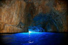 The Blue Cave in Kastellorizo Island