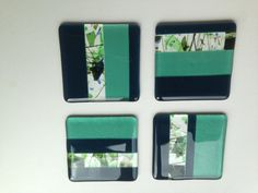 Fusionados con posavasos set de 4 diseño de por SapphireFusedGlass