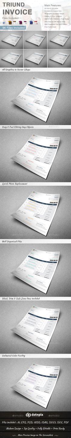 Triund Invoice Template | #invoice #invoicetemplate #invoicedesign | Download: http://graphicriver.net/item/triund-invoice/8992121?ref=ksioks