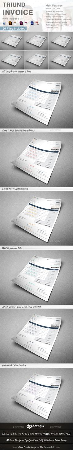 Triund Invoice Template | #invoice #invoicetemplate #invoicedesign | Download: http://graphicriver.net/item/triund-invoice/8992121?ref=ksioks