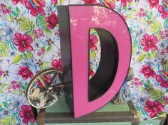 Fuchsia Neon Channel Sign Letter Capital 'D' by MerlesVintage, $80.00