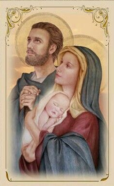 The Holy Family, St. Joseph, Virgin Mary and Infant Jesus Catholic Print.just beautiful Blessed Mother Mary, Blessed Virgin Mary, Catholic Art, Catholic Saints, Religious Images, Religious Art, Jesus Jose Y Maria, Lady Of Mount Carmel, Mama Mary