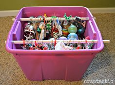 Christmas Ornament Storage: Top 31 Super Smart DIY Storage Solutions For Your Home Improvement Noel Christmas, Diy Christmas Ornaments, Holiday Crafts, Christmas Decorations, Christmas Ideas, Cheap Christmas, Christmas Inspiration, Christmas Stuff, Christmas Recipes