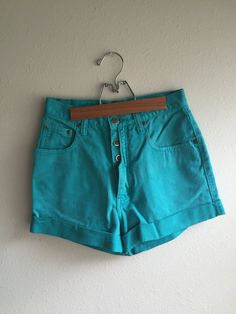 High Waisted Shorts // ZENA by littlewrensvintage on Etsy