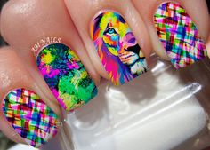 The Lion Nail Art Stickers Transfers Decals Set of 22 19c14bc1fc92